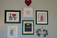 shopping bag art tutorial, crafts, repurposing upcycling, Shopping Bag Art used in my daughters gallery wall