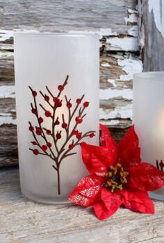 etched candle holders perfect for the holidays, crafts, seasonal holiday decor, Etched Candle Holders for the holidays