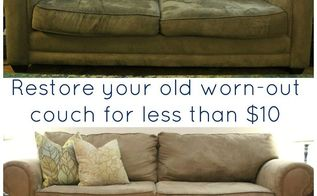 save a stained saggy sofa, cleaning tips, painted furniture, Don t give up on that old saggy sofa give it new life
