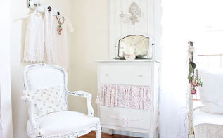 vintage dresser and mirror, painted furniture, dresser and mirror