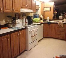 q need a cheap fix for ugly laminate counter tops, countertops, home decor, kitchen design