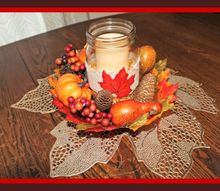thanksgiving centerpiece craft for the holiday challenged, crafts, mason jars, seasonal holiday decor, thanksgiving decorations, Final Table Centerpiece