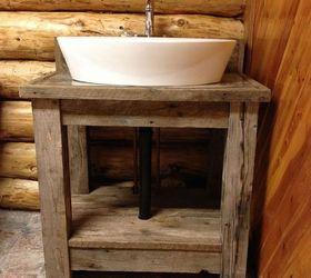 Reclaimed Wood Bathroom Vanity, Bathroom Ideas, Diy, Painted Furniture,  Rustic Furniture,