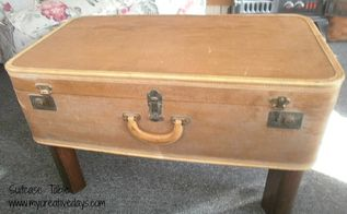suitcase coffee table, painted furniture, repurposing upcycling, Upcycled Suitcase Coffee Table