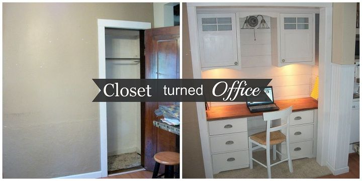 Peachy Closet Turned Office Reveal Hometalk Largest Home Design Picture Inspirations Pitcheantrous