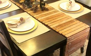 diy table runner from scrap wood video tutorial, diy, home decor, how to, repurposing upcycling, seasonal holiday decor, woodworking projects, The table runner will even protect your table from hot dishes See the video tutorial on the blog