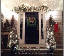my 2013 holiday virtual open house, seasonal holiday d cor, Entrance to my home Some Pinterest inspired items as well as Craigslist finds
