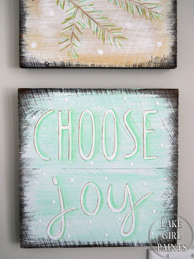 How To Paint A Rustic Winter Art Group Hometalk