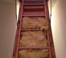 q insulation for pull down attic steps, diy, home maintenance repairs, how to, stairs, This insulation is clearly not working What should we do instead