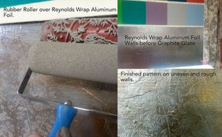 covering walls with aluminum wrap or tin foil, wall decor