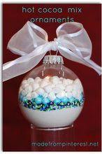 hot cocoa mix ornaments, seasonal holiday d cor, Hot Cocoa Mix Ornaments