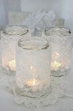 how to make a lace candle holder, christmas decorations, crafts, mason jars, seasonal holiday decor