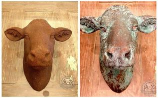 creating a faux patina, crafts, painting, Before and After