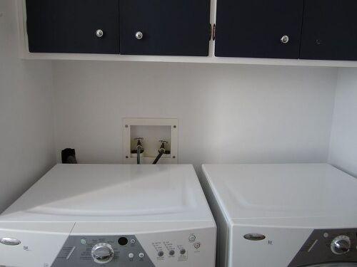 hiding the washer and dryer plumbing hometalk. Black Bedroom Furniture Sets. Home Design Ideas