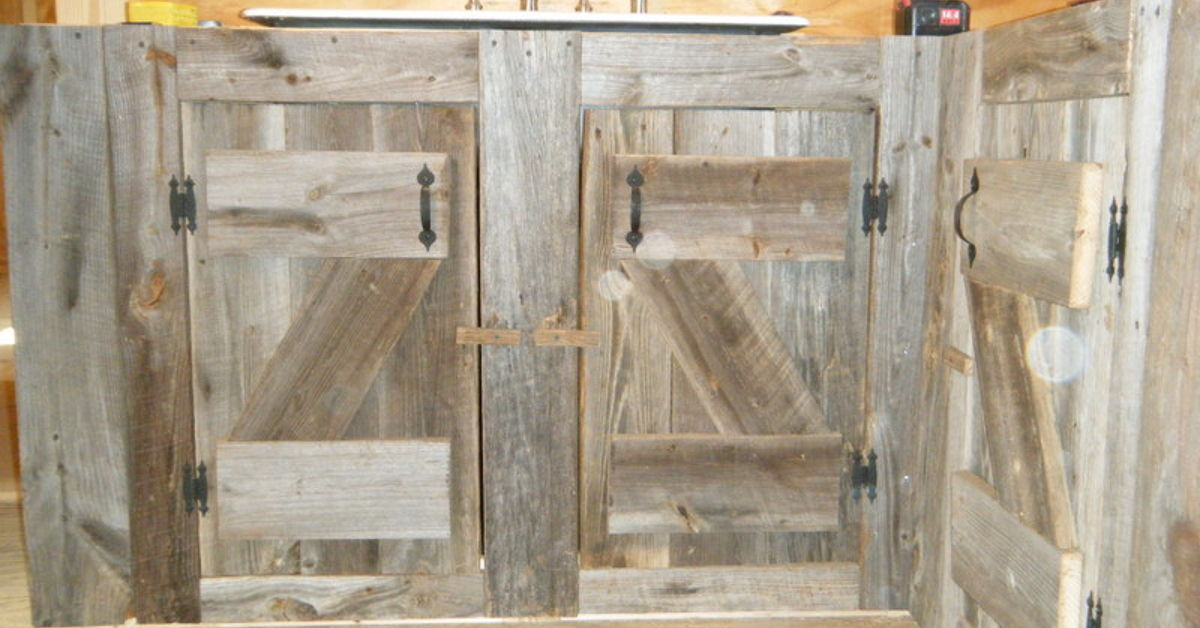 Reclaimed Wood Cabinets kitchen cabinets made from reclaimed salvaged barnwood | hometalk