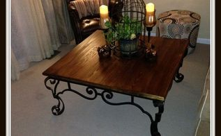 rustic diy coffee table, diy, how to, painted furniture, rustic furniture, woodworking projects, Finished Rustic DIY Coffee Table found at a thrift store and brought back to usable life