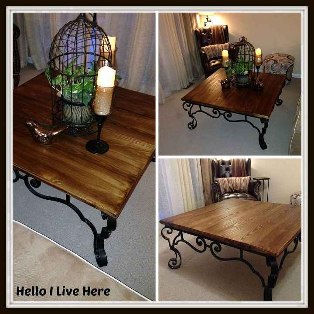 Rustic Storage Coffee Table Diy: Rustic DIY Coffee Table