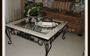diy 15 coffee table makeover, chalk paint, diy, painted furniture, 15 Garage Sale Table make over from Hello I Live Here
