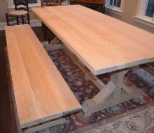 farmhouse table and matching benches, diy, painted furniture, woodworking projects, Construction complete