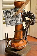 rusty spring photo display, crafts, repurposing upcycling, Add a few clothespins vintage keys and photos and you ve got one awesome photo display