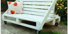 pallet furniture, diy, painted furniture, pallet, Pallets bench sofa
