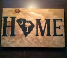 still using that left over pallet wood rustic home state sign, crafts, pallet, repurposing upcycling