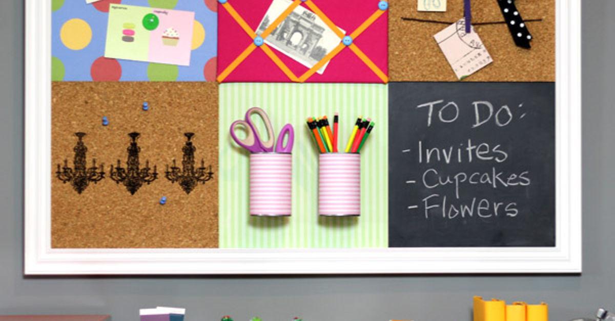Diy Pottery Barn Teen Inspired Bulletin Board System