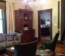 old house renovation story the living room, architecture, home decor, home improvement, living room ideas, This ol gal built in 1907 sure looks different from the first time I saw her