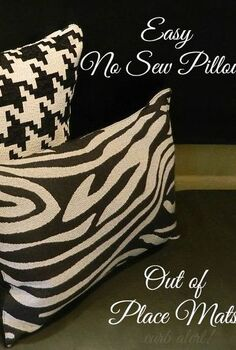 easy diy no sew pillows out of place mats, crafts, home decor, living room ideas, Easy DIY No Sew Pillows made out of Place Mats