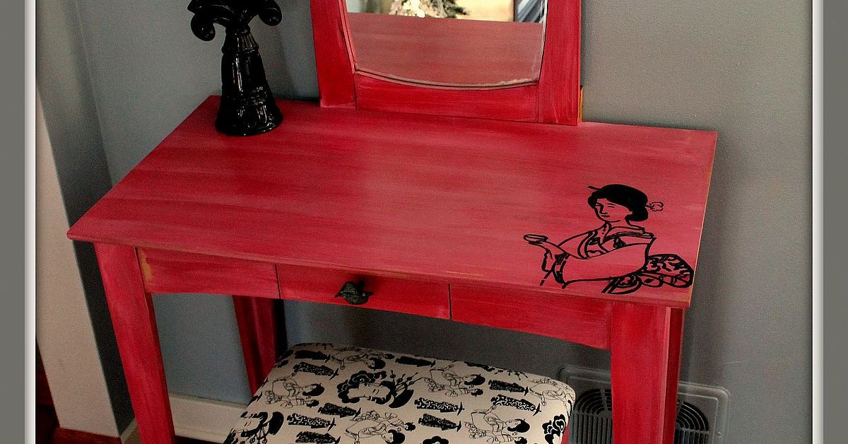 Outdated Vanity Turned Asian Inspired Beauty Hometalk