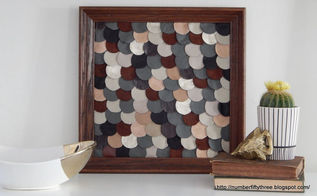 diy leather fish scale art, crafts, home decor