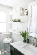 bathroom before and after, bathroom ideas, diy, home decor, storage ideas, Farmhouse bathroom makeover after