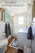 cottage style bathroom makeover, bathroom ideas, home decor, home improvement, painting, woodworking projects, Cottage Style Bathroom Makeover the Finished product