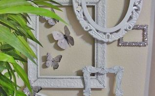 wall gallery for small wall 5 of 5 white and silver d cor accents, crafts, decoupage, home decor, paint colors, wall decor, Small gallery wall