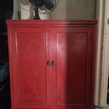 lady in red, chalk paint, painted furniture, I love me some red