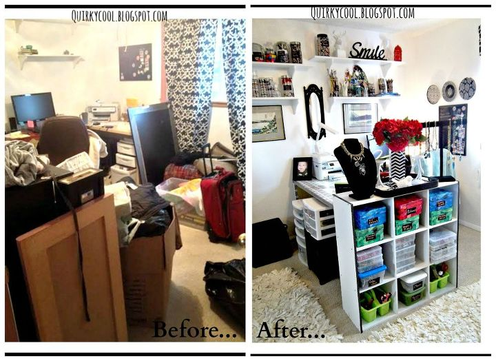 Closet Office Craft Room Combination Budget Craft Rooms Home Decor Home Office