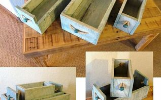 nesting boxes and a pallet table, pallet, woodworking projects