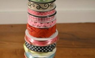 diy ribbon organizer, crafts, organizing