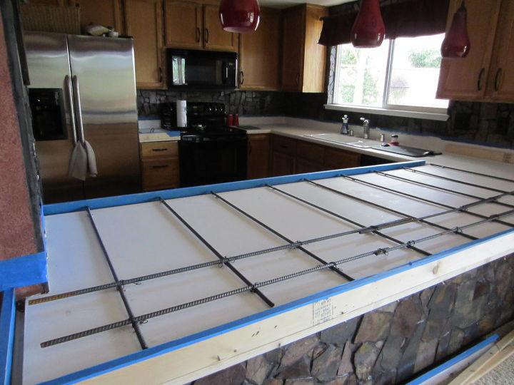 Our Concrete Countertops Concrete Masonry Concrete Countertops Countertops Diy Kitchen Design