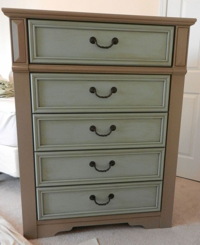 Before And After Of A New Chest Of Drawers