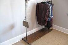 how to build a garment rack, closet, storage ideas