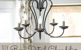 diy rope detail chandelier, home decor, lighting, repurposing upcycling, Begin with a simple and transitional style chandelier from your big box store