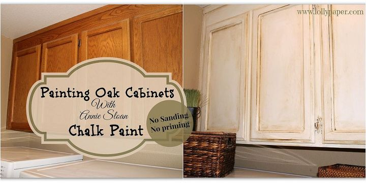 painting over oak cabinets without sanding or priming chalk paint kitchen cabinets kitchen - Oak Kitchen Cabinet Makeover