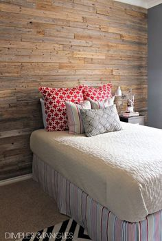 diy fence plank wall, bedroom ideas, diy, home decor, repurposing upcycling, wall decor