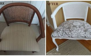 ugly to pretty chair makeover, painted furniture, Before and After aka Ugly to Pretty