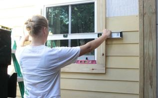 how to install hardie board siding, curb appeal, diy, woodworking projects, Installing Hardie Board siding is a straight forward project making sure to keep each layer of siding level even around windows and doors is an important step
