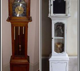repurposed grandfather clock chalkboard paint painted furniture repurposing upcycling - Grandfather Clocks