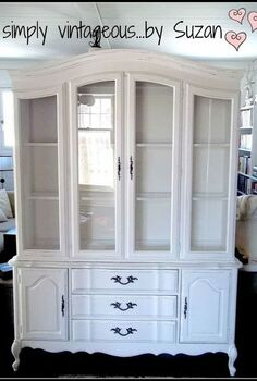 hutch makeover before and after, painted furniture, She s got style she s got grace She s a lady