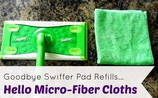 goodbye swiffer refills hello micro fiber cloths, flooring, organizing