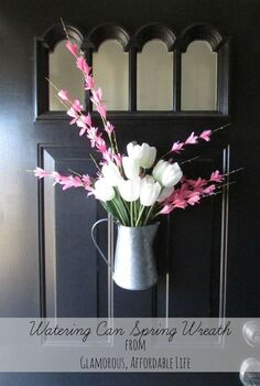 bringing spring to the door, crafts, doors, seasonal holiday decor, wreaths